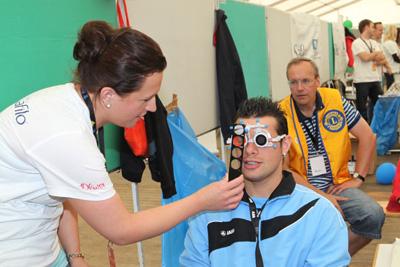 """Das HA-Programm """"Besser Sehen"""" bei den Nationalen Sommerspielen in Düsseldorf 2014, © SOD"""