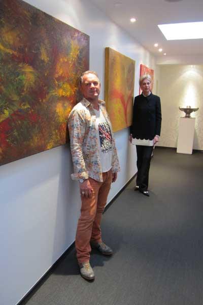 Kunstausstellung im Amadè Restaurant in Gütersloh