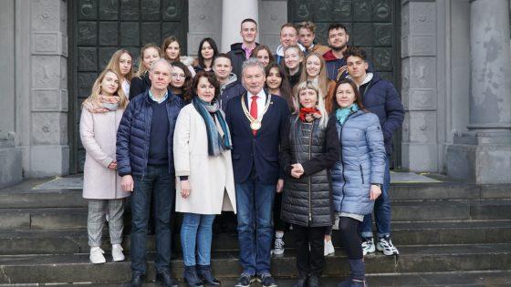 Schülergruppe aus der russischen Stadt Kolomna.
