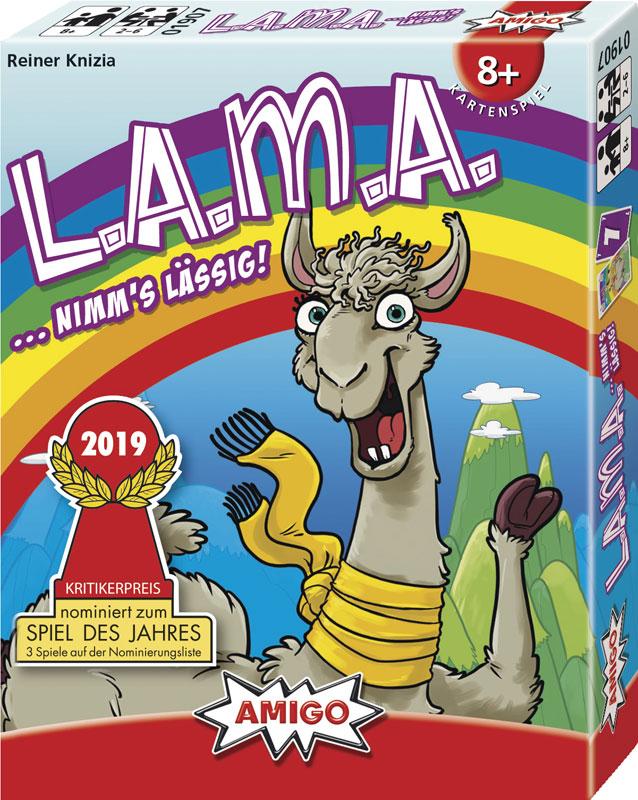 LAMA zum 'Spiel des Jahres 2019' nominiert!