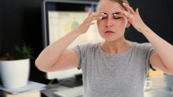 Müde Augen von Bildschirm