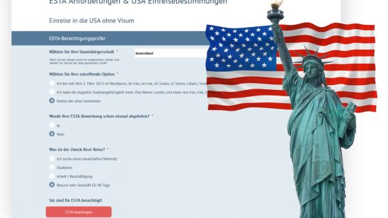 Der ESTA-Antrag und die Anforderungen