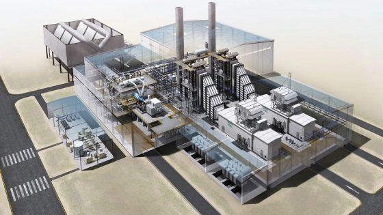 3d Ansicht des Kraftwerks