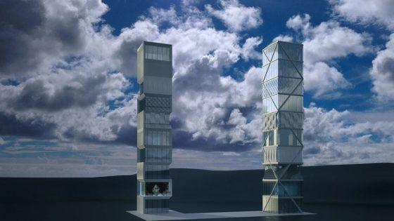 Model eines Hochhauses