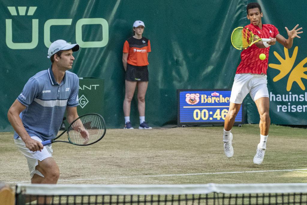 zwei Tennispieler
